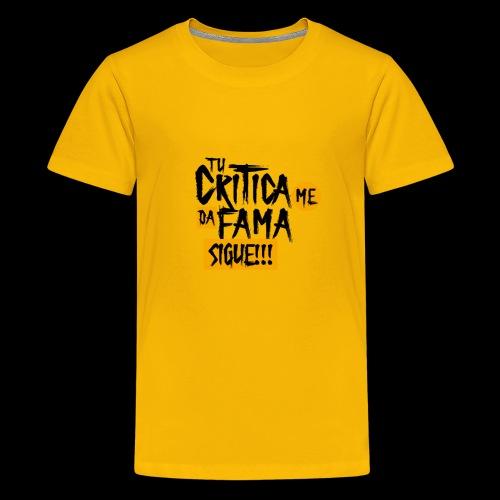 CRITICA - Camiseta premium adolescente