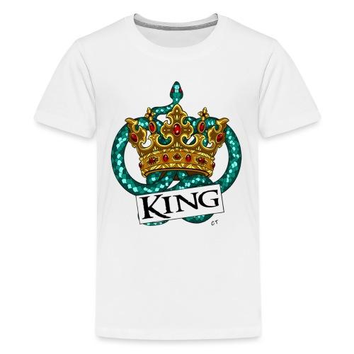 KING - Maglietta Premium per ragazzi