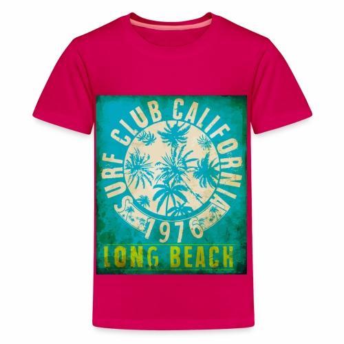 Long Beach Surf Club California 1976 Gift Idea - Teenage Premium T-Shirt