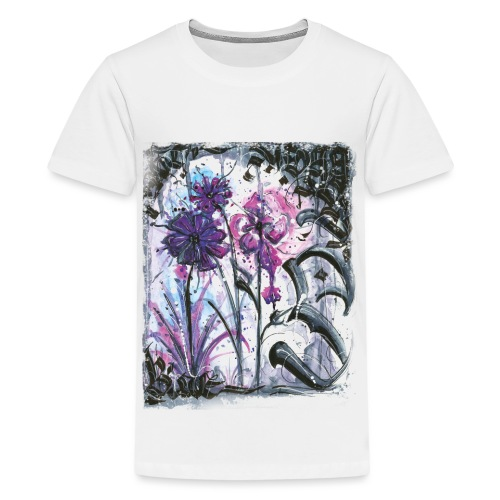 Crazy Flowers - Teenager Premium T-Shirt