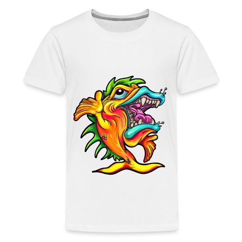 Rock & Roll Singing Fish - Teenage Premium T-Shirt