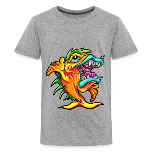 Rock & Roll Singing Fish - Teenage Premium T-Shirt