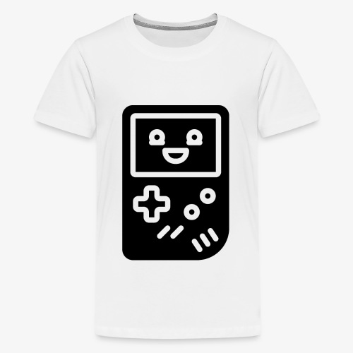 Smiling game console (black, inverted) - Teenage Premium T-Shirt