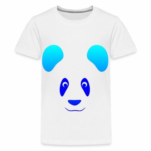 Happy Panda - Blue - Teenage Premium T-Shirt