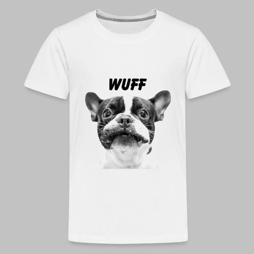 Wuff - Hundeblick - Hundemotiv Hundekopf - Teenager Premium T-Shirt