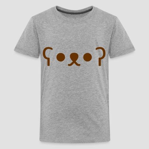 Kuma Kaomoji (Marron) - T-shirt Premium Ado