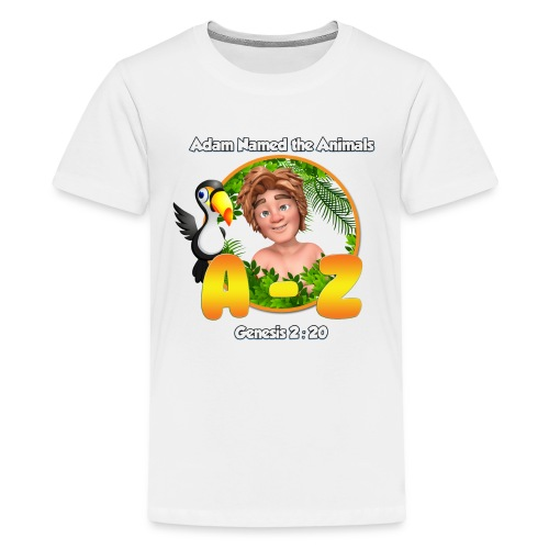 Adam Named the Animals Logo - Teenage Premium T-Shirt