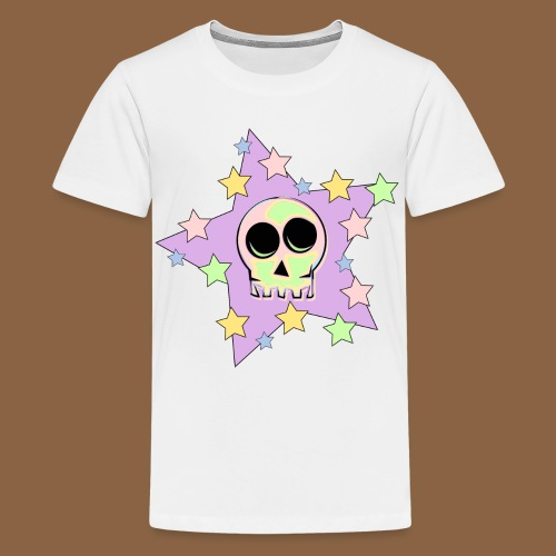 Skull Pastel Colours - Teenager Premium T-shirt