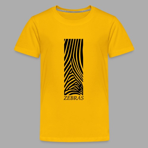 zebras - Teenage Premium T-Shirt