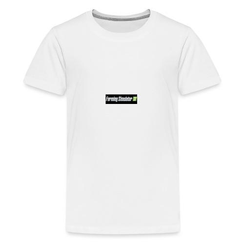 logo av farming simulator 17 - Premium T-skjorte for tenåringer