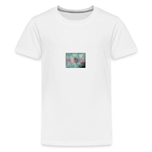 Llama in a circle - Teenage Premium T-Shirt