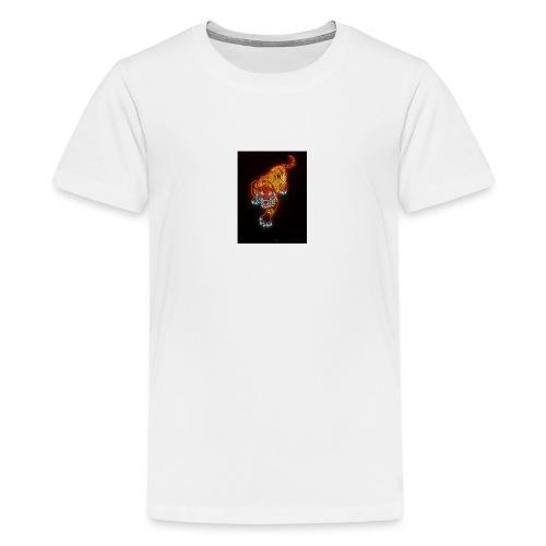 Neon tiger hat - Teenage Premium T-Shirt