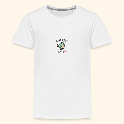 Conures' Lover: blue cinamon - T-shirt Premium Ado