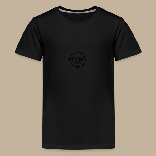 Black TEO Logo - Teenage Premium T-Shirt