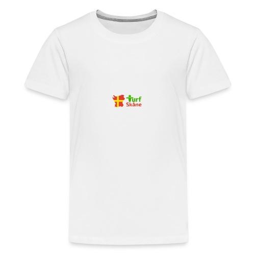 Turf Skåne Logo röd - Premium-T-shirt tonåring