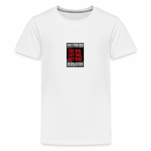 Motivation gym - Premium-T-shirt tonåring