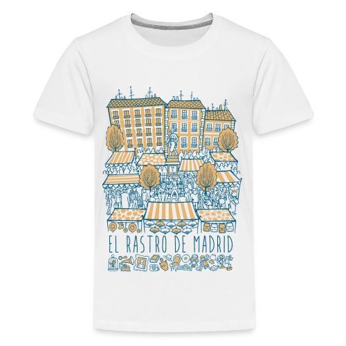 EL RASTRO DE MADRID - Camiseta premium adolescente