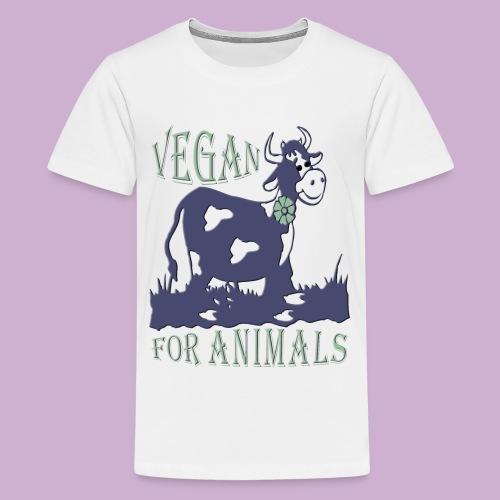 VEGAN FOR ANIMALS - Teenager Premium T-Shirt