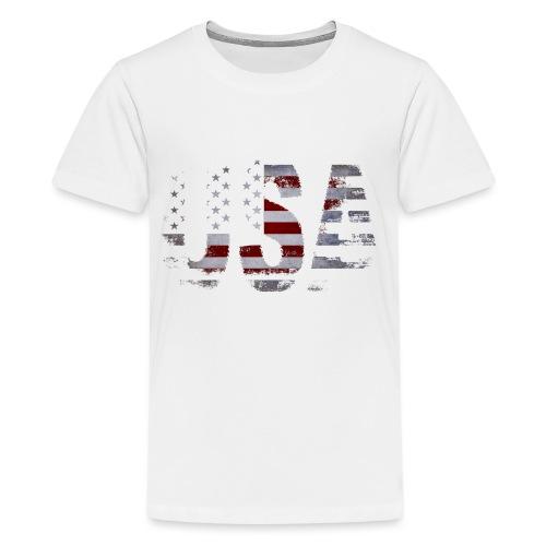 USA - T-shirt Premium Ado