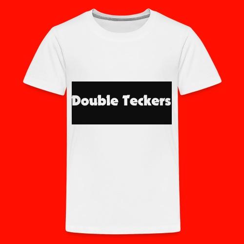 double teckers white top - Teenage Premium T-Shirt
