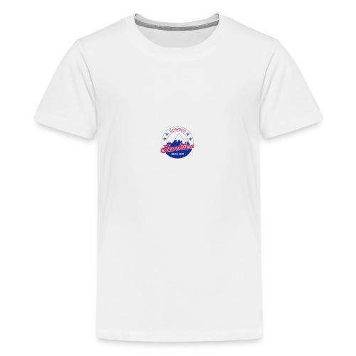 PJ logo pieni - Teinien premium t-paita