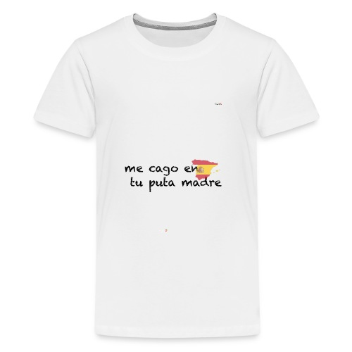 me cago en tu puta madre - schwarz - Teenager Premium T-Shirt
