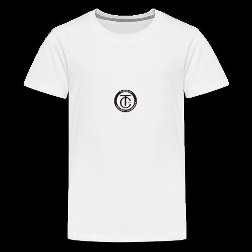 TCHR Logo Schwarz-Weiß - Teenager Premium T-Shirt
