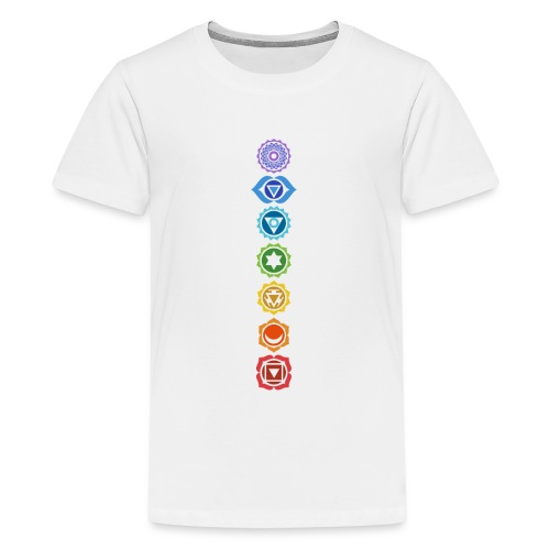 The 7 Chakras, Energy Centres Of The Body - Teenage Premium T-Shirt