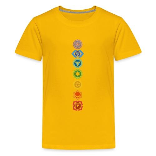 The 7 Chakras, Energy Centres Of The Body - Teenage Premium T-Shirt