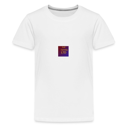 JustGamingLTD-png - Teenager Premium T-shirt