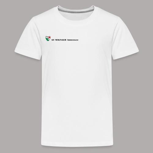 Wappenbanner, schwarz(vorne)Zirkel,schwarz(hinten) - Teenager Premium T-Shirt