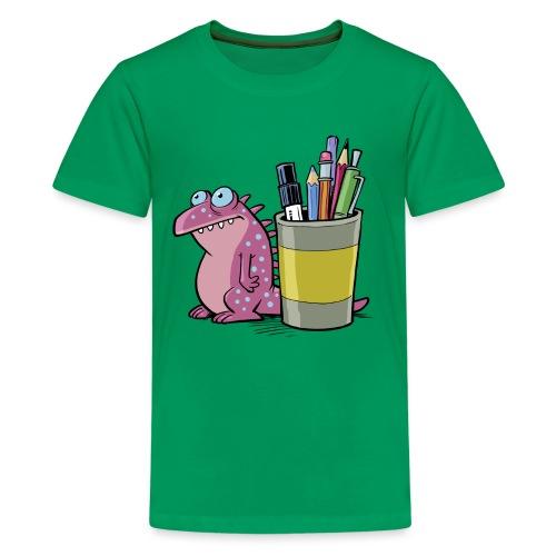 Teenager Premium Langarmshirt Drache - Teenager Premium T-Shirt