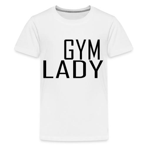 Gym Lady - Teenager Premium T-Shirt