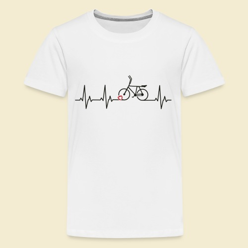 Radball | Heart Monitor Black - Teenager Premium T-Shirt