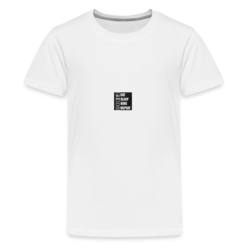 eat sleep bike repeat - T-shirt Premium Ado