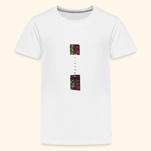 destruccion de una bandera - Camiseta premium adolescente