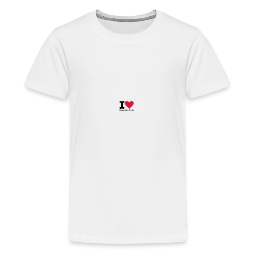 I Love Swedish Girls Vit T-SHIRT - Premium-T-shirt tonåring
