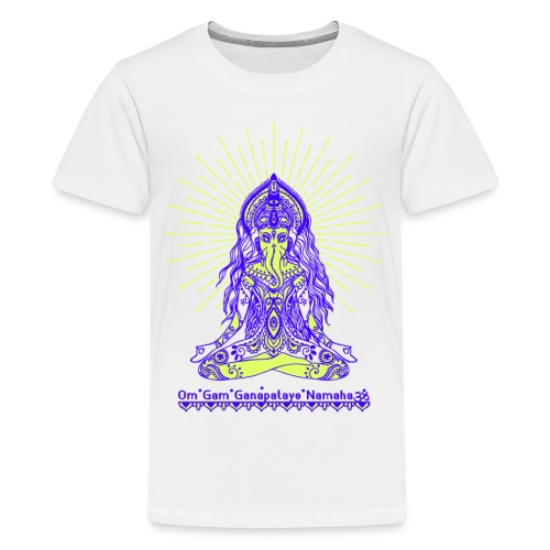 Yogafashion Hippie Ganesha dein Glücksgott - Teenager Premium T-Shirt