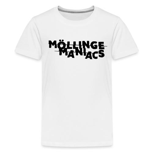 Möllinge Maniacs svart logga - Premium-T-shirt tonåring
