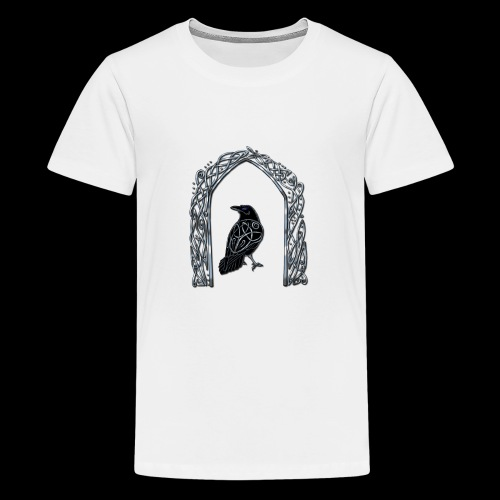 Celtic Raven - Teenage Premium T-Shirt
