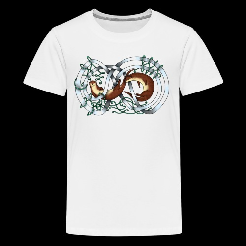 Otters entwined - Teenage Premium T-Shirt