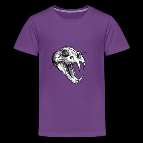 Teschio Tigre - Maglietta Premium per ragazzi