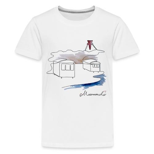 Blokhus 1 - logo - Teenager premium T-shirt