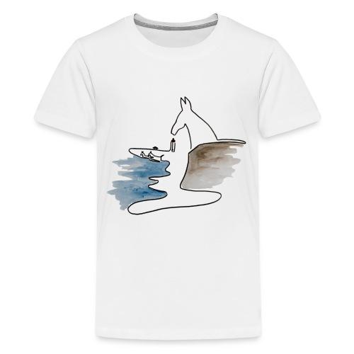 Blåvand 2 - Teenager premium T-shirt