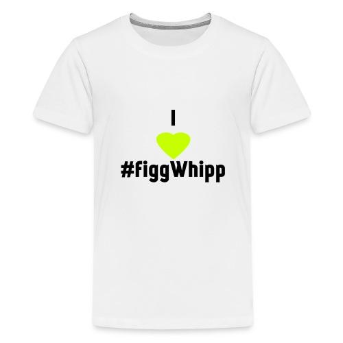I heart figgwhipp black - Premium-T-shirt tonåring