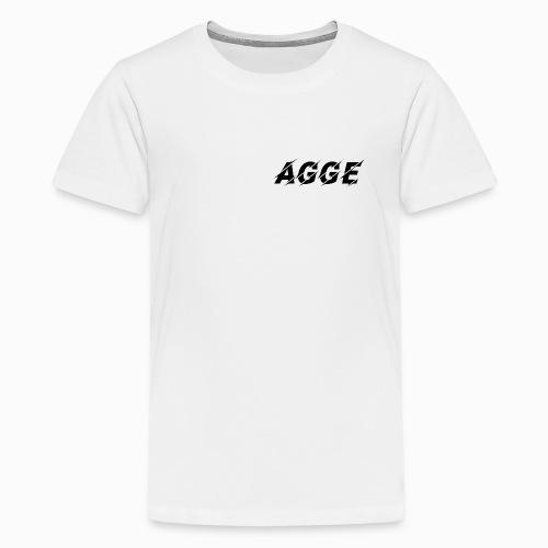 Agge - Svart Logga | Fram - Premium-T-shirt tonåring