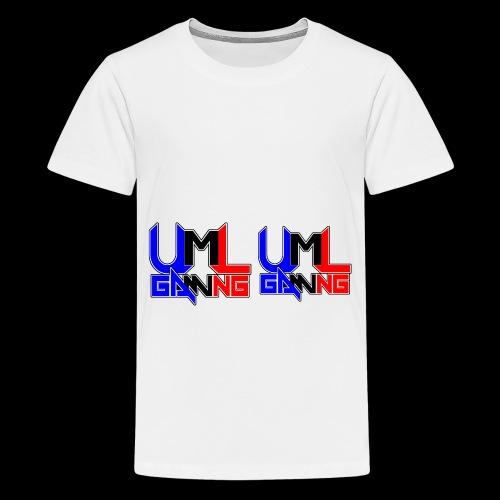 uml gaming Logo - Teenage Premium T-Shirt