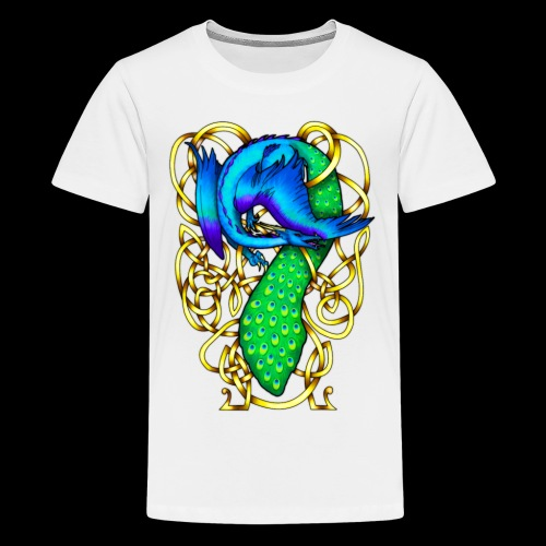 Peacock Dragon - Teenage Premium T-Shirt