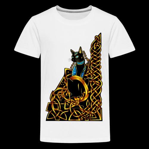 Celtic Cat - sitting - Teenage Premium T-Shirt