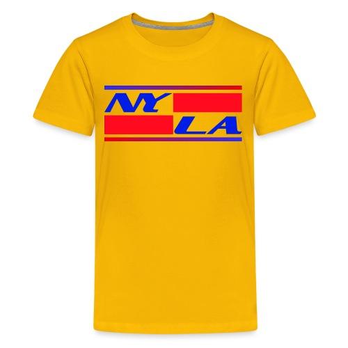 New York NY Los Angeles LA - Teenager Premium T-Shirt